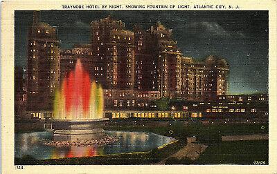 Atlantic City, New Jersey, Traymore Hotel, Fountain of Light - Postcard (S) Traymore Atlantic City New Jersey