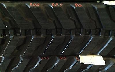 2-tracks Hanix Rubber Track H 29a 30 30-2 30a 35 35a 36a 300x52.5x80 30052580