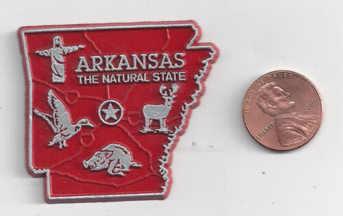 ARKANSAS   AR   THE NATURAL STATE  OUTLINE MAP MAGNET   NEW