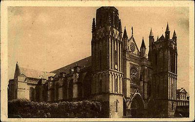 Poitiers Vienne France carte postal ~1930 La Cathédrale Blick auf die Kathedrale