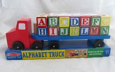 Melissa & Doug ABC Alphabet Letter Blocks Cargo Truck Wooden Kids Toy Education