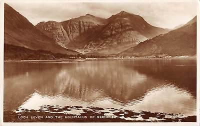 uk14706 loch leven and mountain of glencoe scotland  real photo uk
