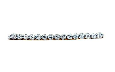 DIAMOND ROUND BRILLIANT 4 PRONG BEZEL SET TENNIS DIAMOND TENNIS BRACELET
