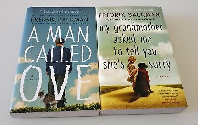 A Man Called Ove & My Grandmother Asked Me to Tell You Fredrik Backman LOT