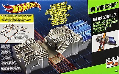Hot Wheels Track Builder 2-Speed Power Booster Accessory NEW