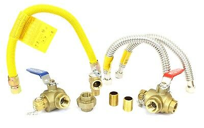 - Complete Set 3/4 Tankless Water Heater Isolation Service Valve Installation Kit