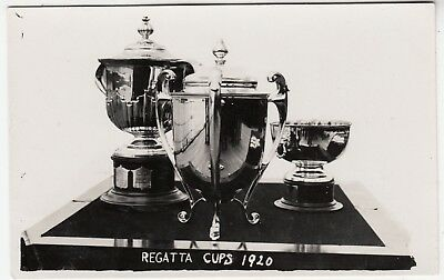 THE 1920 REGATTA CUPS - Sailing - Water Sports - real photo postcard, used for sale  Shipping to Nigeria