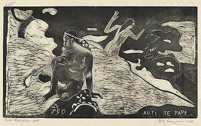 Gauguin Woodcuts: Women at the River, (Auti te Pape) - Fine Art Print