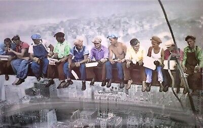 3D Poster IRON WORKERS ON GIRDER HAVING LUNCH ON SKYSCRAPER Lenticular - 23