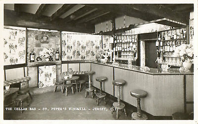 The Cellar Bar-St.Peter's Windmill,Jersey (Real Photograph)