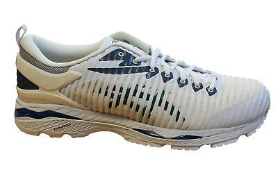 Asics Gel-Delva White Forest Green Lace Up Mens Running Trainers 1013A041 100