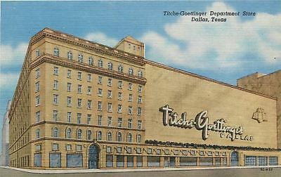 Dallas Texas Art Deco Titche Goettinger Dillards Department Store 1955 Postcard