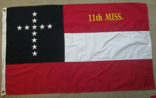 COTTON, OLE MISS Southern Christian Civil War Flag.....11th Mississippi