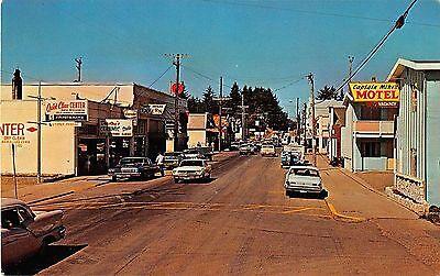 Ilwaco Washington Street Scene 76 Gas Station Hotel Tavern Vintage Pc  Y6975