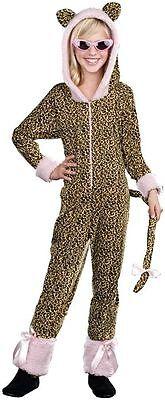 CRAZY CAT LEOPARD JUMPSUIT w/HOOD CHILD HALLOWEEN COSTUME GIRLS SIZE MEDIUM 6-8
