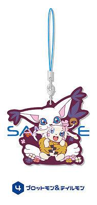 Digimon Plotmon, Tailmon Rubber Phone Strap Anime Manga NEW (Manga Digimon)