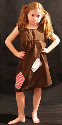 VICTORIAN Brown Annie/Workhouse/Orphan/Servant -Smock Patched FANCY DRESS - Orphan Kostüm