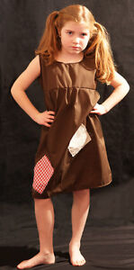 Girls-BROWN-Victorian-Edwardian-Annie-Orphan-Workhouse-Fancy-Dress-Costume