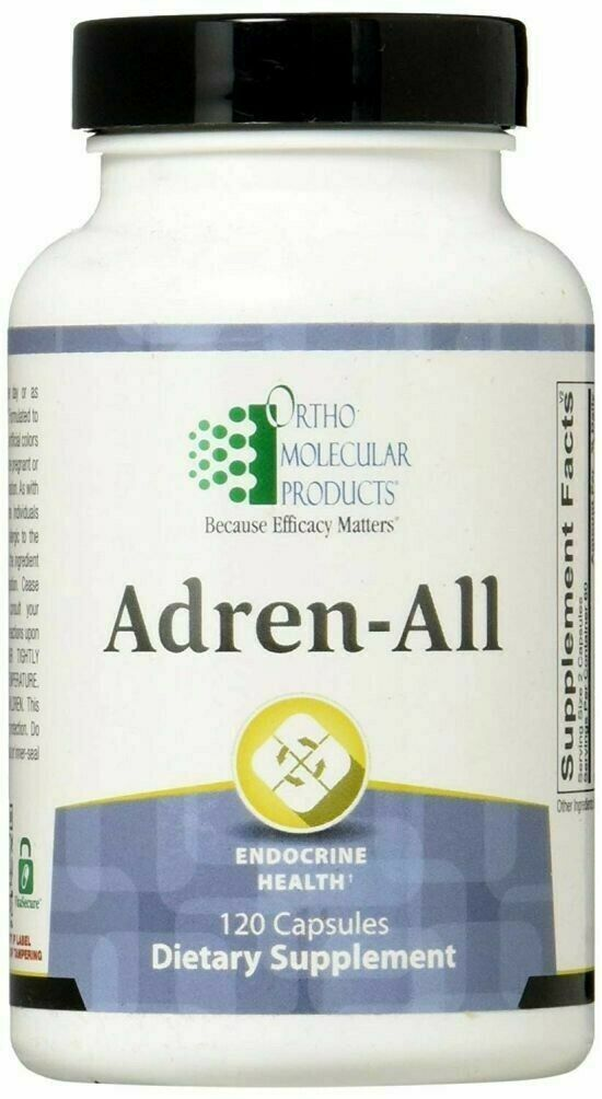 Ortho Molecular products Adren-All 120 Capsules Fresh Stock Ship Free Fast