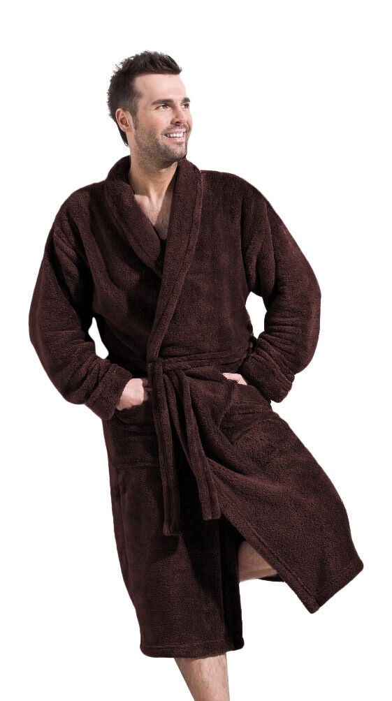 pick up hot-selling professional discount coupon Men's Luxury SOFT Bath Robe Housecoat Dressing Gown Bathrobe ...