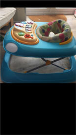 Chicco blue baby walker