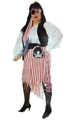 Plus Size Womens Pirate Costume (Pirate Wench Plus Size Full Figure Costume w/bonus)