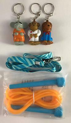 3 American Heart Association Zoo Crew Keychains Lion  Elephant   Monkey Lanyard