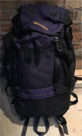 Survivor 65 Travel Hiking Rucksack Bag Black & Purple