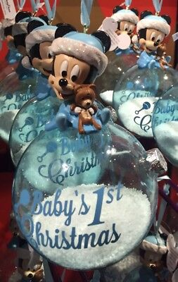 Mickey Baby's First 1st Christmas Ornament Holidays Disney Theme Parks New