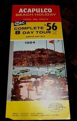 Vintage 1964 ACAPULCO Beach Holiday MEXICO Color Travel Brochure
