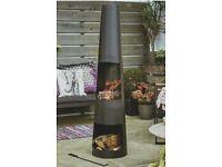 ROUND Gardenline Steel Chiminea/firepit/patio heater
