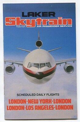 LAKER AIRWAYS SKYTRAIN TIMETABLE JULY 1979