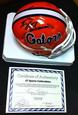 NCAA Helm AUTHENTIC Florida Gators Autogramm NFL TIM TEBOW MLB Broncos OVP COA
