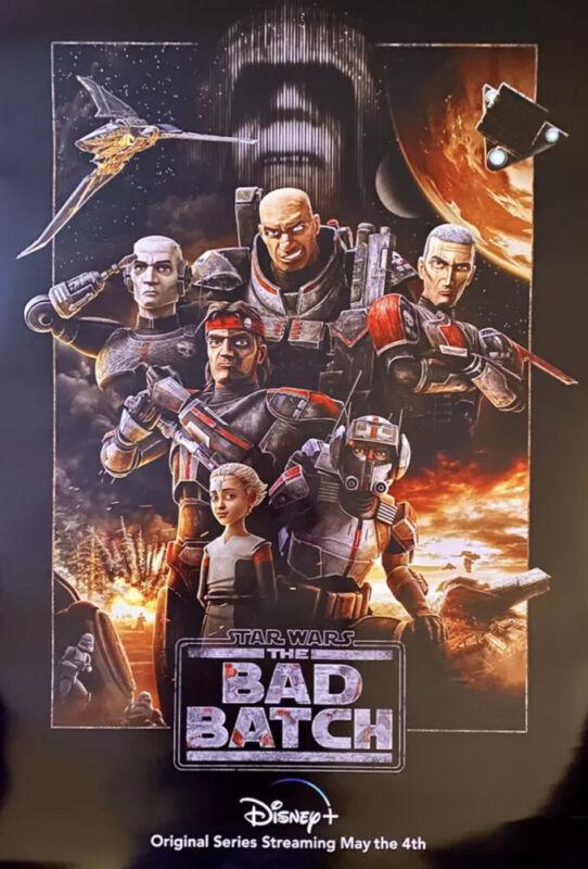 Star Wars The Bad Batch Original 27x40  D/S Movie Poster Disney Plus Rare Promo