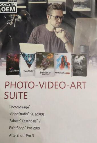 Corel Photo Video Art Suite Software Kit with 5 original product key
