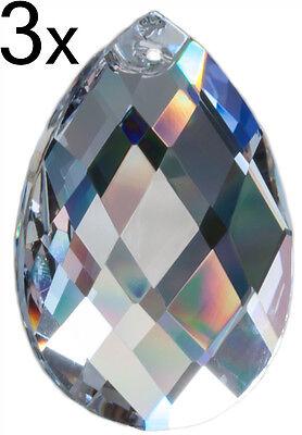 "3x Kristall Glas Raute Pendel Prisma 50mm für Feng Shui ""Regenbogenkristalle"""