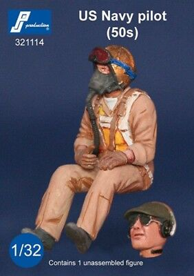 1/32 PJ PRODUCTION US NAVY PILOT SEATED IN A/C (50s), used for sale  Killeen