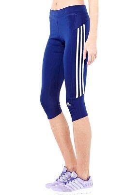 Adidas Response 3/4 Tight Laufhose Running Hose Pant Damen Fitnesshose Blau