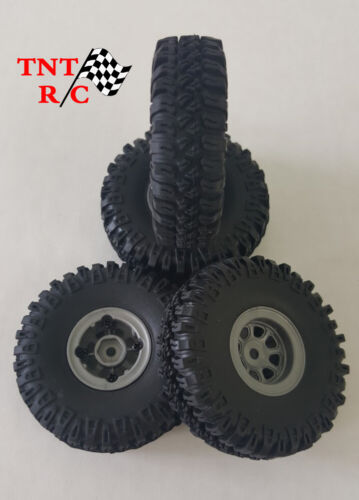 All 4pcs 1/18, 1/24 scale r/c rock crawler Grabber tires & Wheels With Free Ship