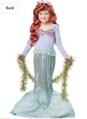 Little Mermaid Costume Bundle With Red Wig & Seaweed Boa California