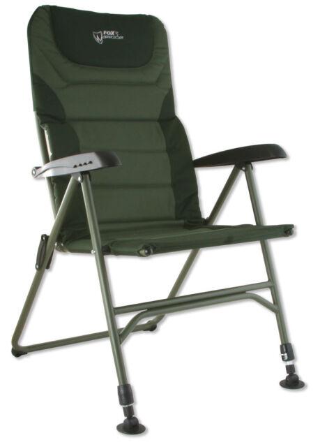 Fox NEW Warrior Padded Carp Fishing Recliner Arm Chair - CBC033