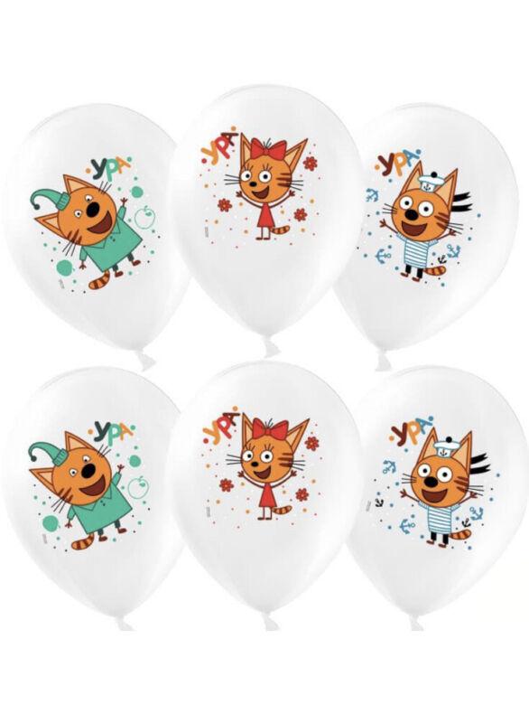 Шарики Три Кота 15 шт. 30 см. Balloons Birthday Decoration Russian Kids Tri Kota