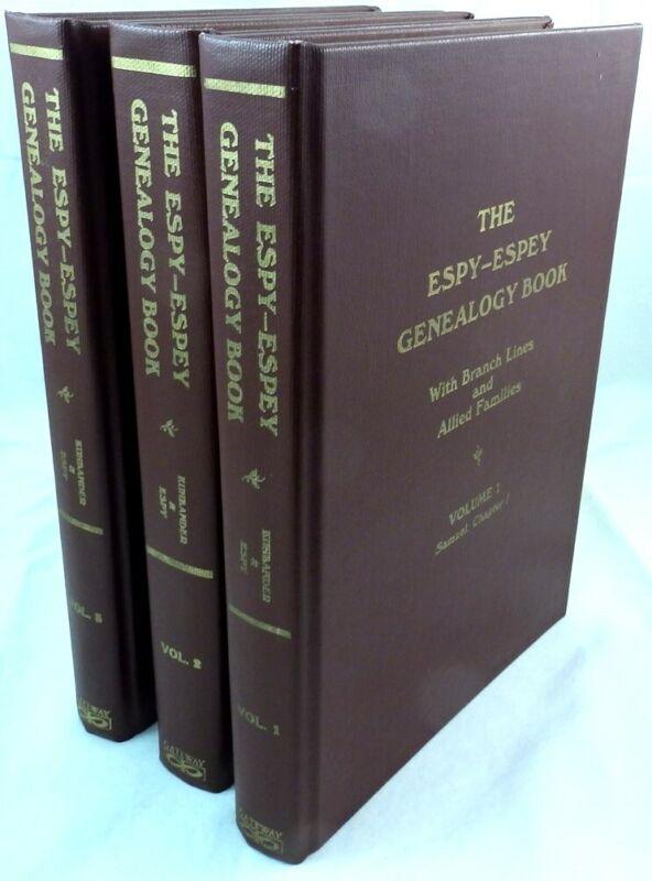 Espy - Espey Genealogy Book: 3 Volumes