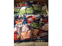 Marvel Avengers single duvet cover and pillow case set