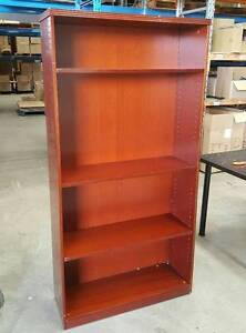 STAINED WOOD BOOKCASE - office work study student storage uni Murarrie Brisbane South East Preview