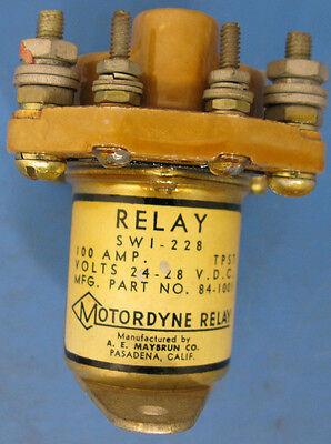 Motordyne Relay 84-1001 Tpst 28v 100amp