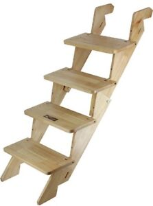 Portable Folding Dog Stairs ( solid wood )