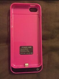 iPhone 5s Pink Charger Case