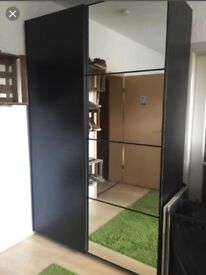 Ikea pax black/mirror