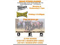Pay as you go Group Fitness Classes & Personal Training